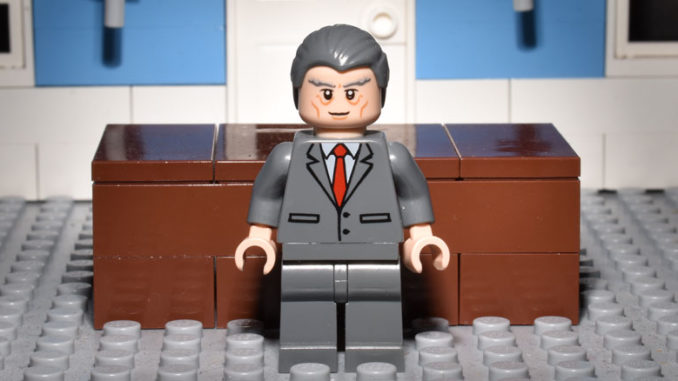 LEGO Hamlet Characters: King Claudius, as Played by Nicholas Farrell