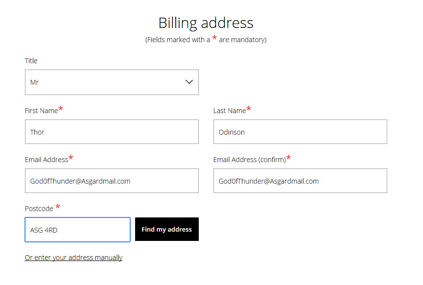 how to change my billing address