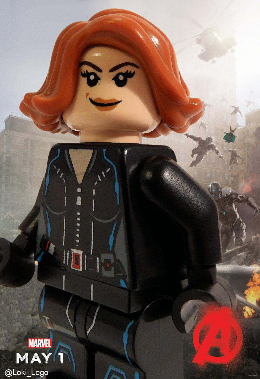 LEGO Avengers Age Of Ultron Black Widow Character Poster ...