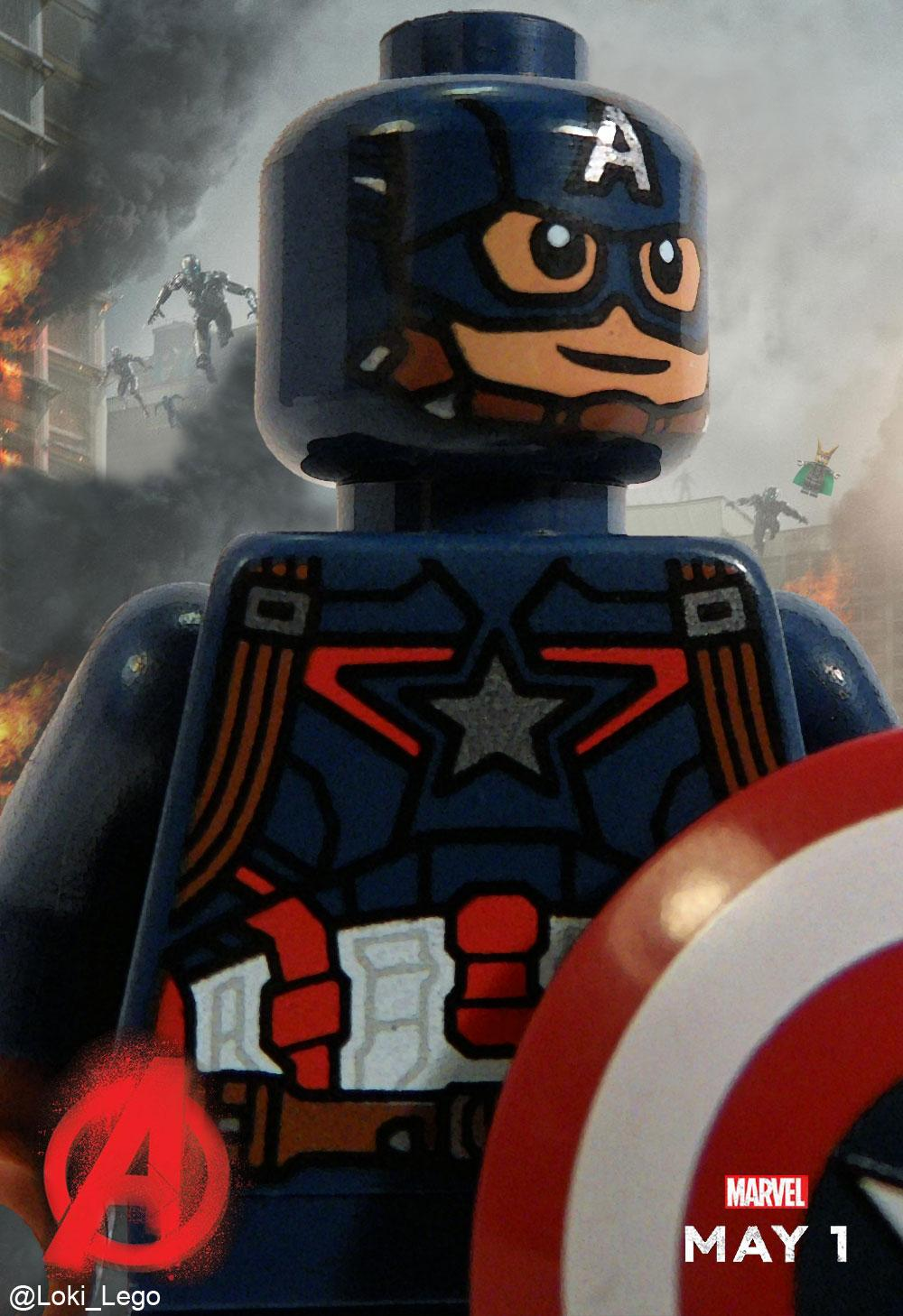 Lego avengers age of ultron captain america character poster future ruler of midgard - Lego capitaine america ...