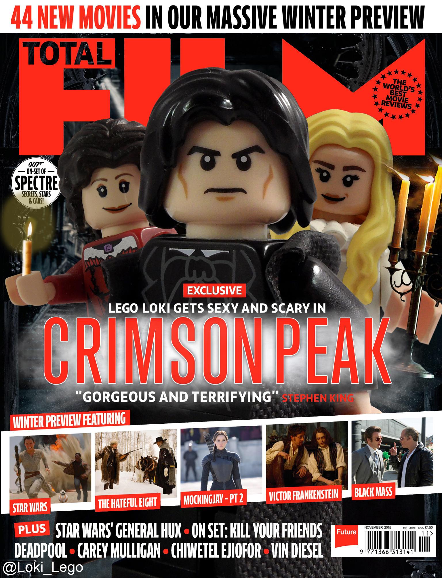 Crimson Peak On The Cover Of Total Film Magazine Future Ruler Of