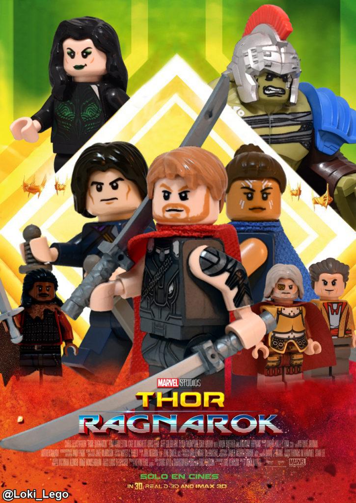 Thor Ragnarok Poster in LEGO