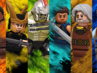 Thor Ragnarok Character Posters recreated in LEGO