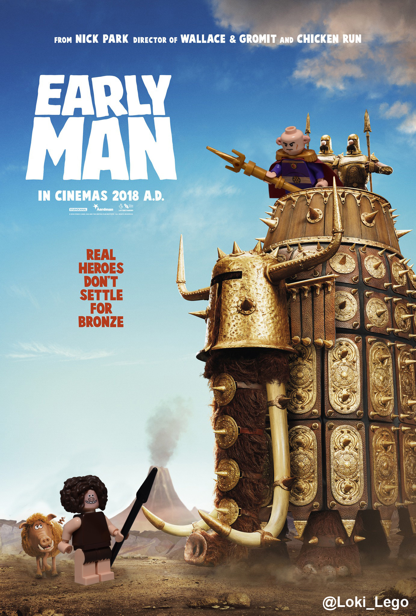 Early Man Poster recreated in LEGO